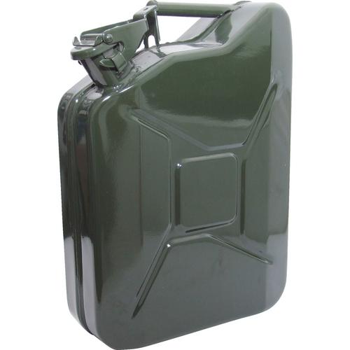 20LTR HEAVY DUTY STEEL JERRY CAN (GREEN) / KEN5039250K